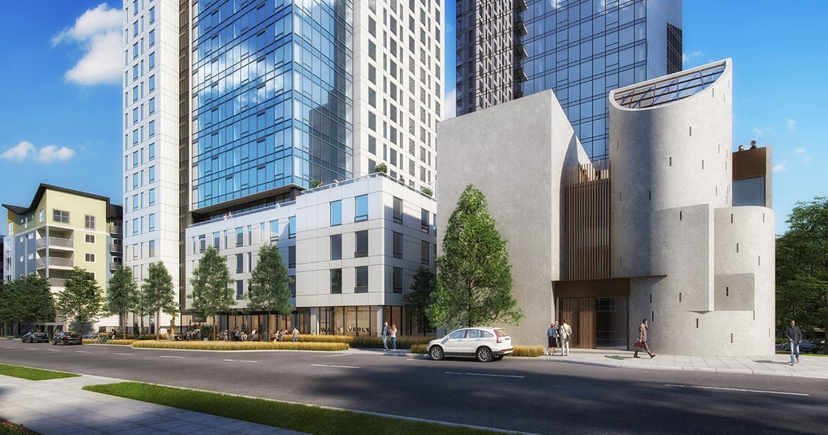 Architectural Rendering - Exterior Seattle Unity and Waverly