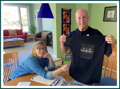 Scott & Cindy with Time Capsule Items