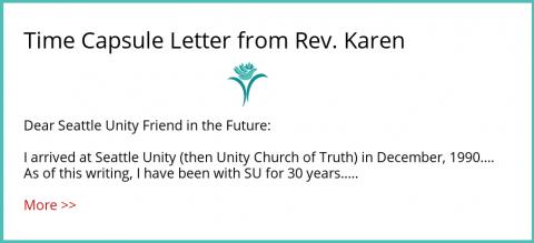 Letter from Rev. Karen